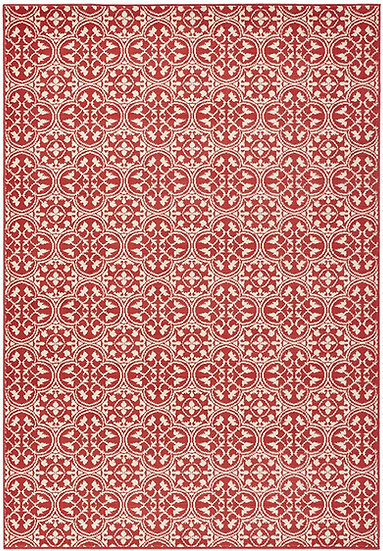 Hanse Home Designer Velor Pattern 102414 Red