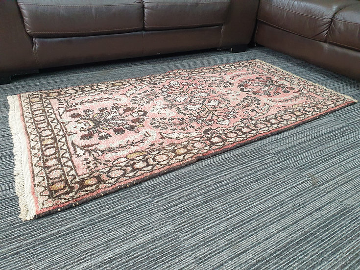 Vintage Wool Pre-Owned Rugs Persian Sarough 80 x 155 cm