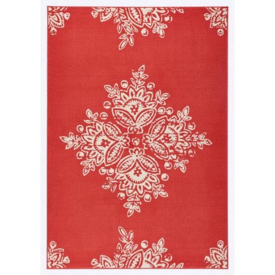 Hanse Home Designer Velor Blossom 102426 Coral Crème