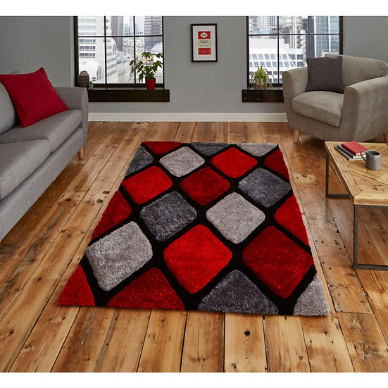 Think Rugs Noble House NH9247 Grey/Red