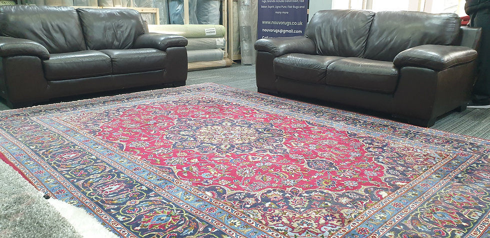 Vintage Wool Pre-Owned Rugs Persian Meshed 246 x 347 cm