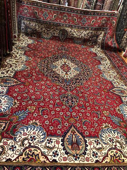 Vintage Wool Pre-Owned Rugs Persian Tabriz 350 x 500 cm