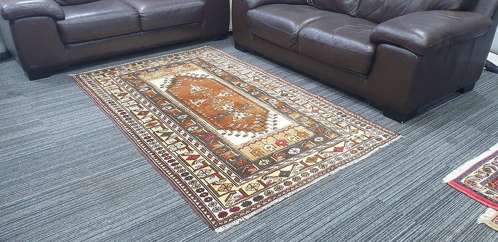 Vintage Wool Pre-Owned Rugs Turkish Milas 126 x 200 cm