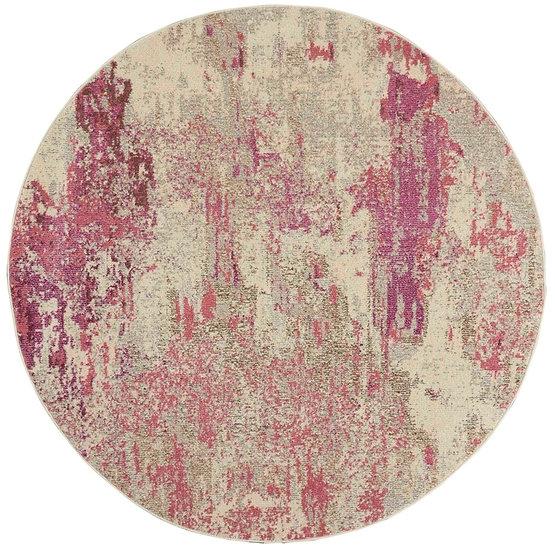 Nourison Celestial Collection CES02 Ivory Pink