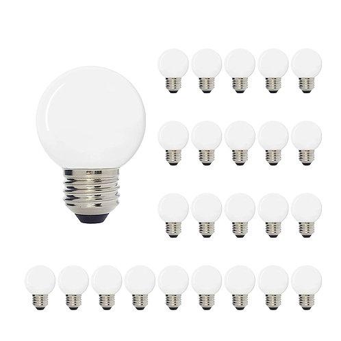 Luxsent Globe G50 Medium Base LED Decorative Bulb with Internal White Coating
