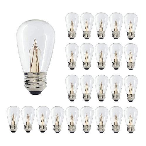 S16 (Enlarged S14) Medium Base Clear LED Decorative Bulb Shine Line Light Bar