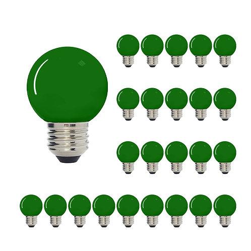 G50 Medium Base LED Decorative Bulb with Internal Green Coating, 1W