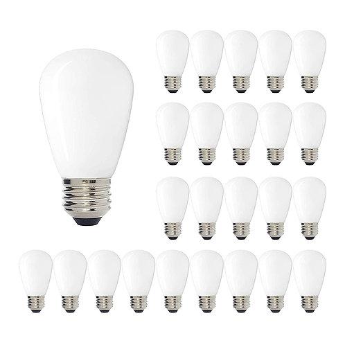 S16 (Enlarged S14) Medium Base LED Decorative Bulb with Internal White Coating