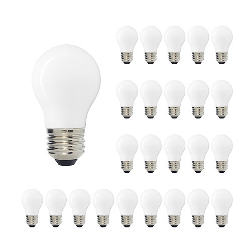 LUXSENT INCANDESCENT A15 MEDIUM BASE LED DECORATIVE BULB WITH INTERNAL WHITE