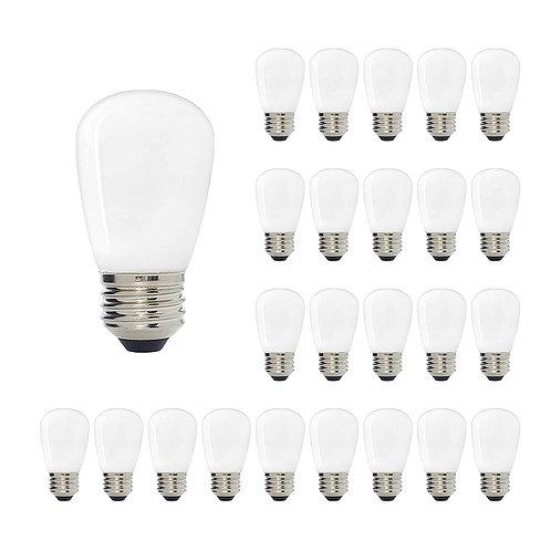 S14 Medium Base LED Decorative Bulb with Internal White Coating, 1W, 2700K
