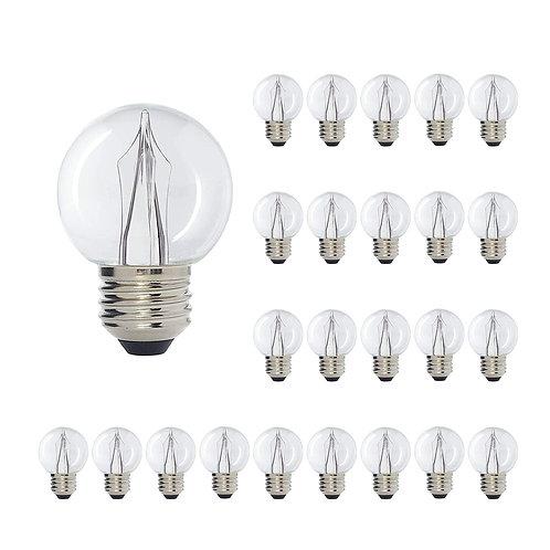 G50 Medium Base Clear LED Decorative Bulb with Shine Line Light Bar, 1W, 2700K