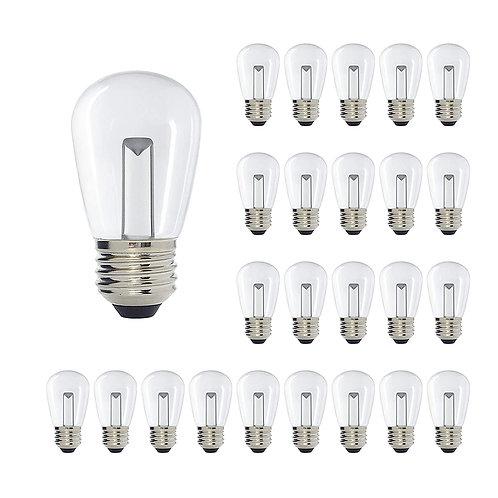 S14 Medium Base Clear LED Decorative Bulb with Light Bar, 1W, 2700K