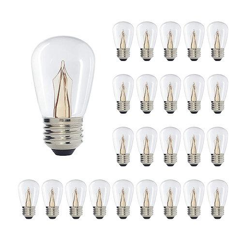 S14 Medium Base Clear LED Decorative Bulb with Shine Line Light Bar, 1W, 2400K