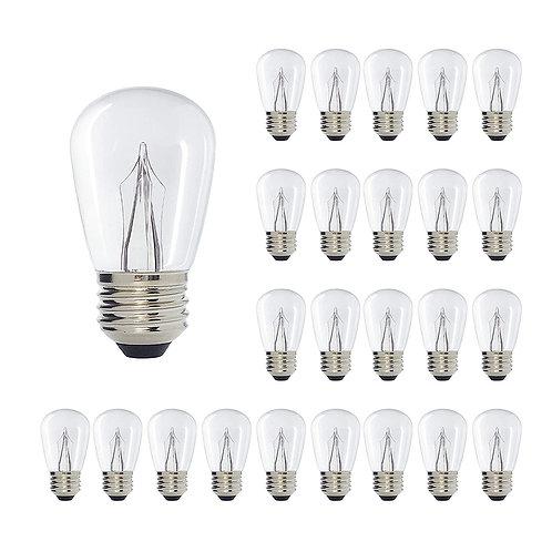 S14 Medium Base Clear LED Decorative Bulb with Shine Line Light Bar, 1W, 2700K