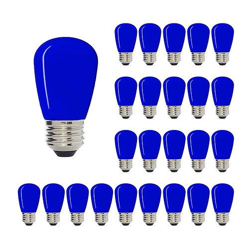 S14 Medium Base LED Decorative Bulb with Internal Blue Coating, 1W