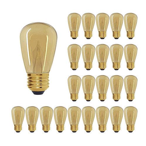 S16 (Enlarged S14) Medium Base Amber LED Decorative Bulb Shine Line Light Bar