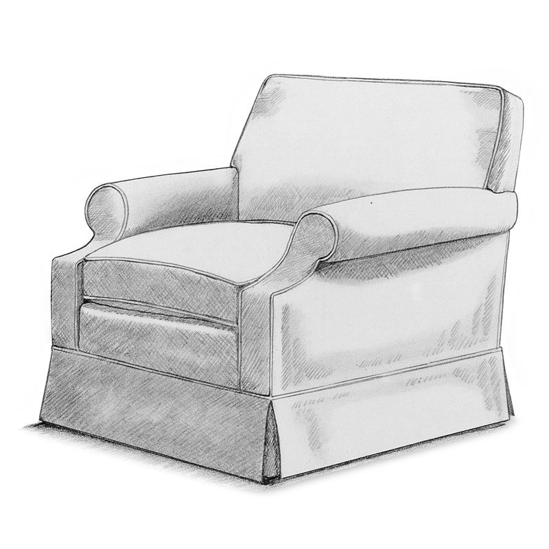 Item# 2323 Raquel Lounge Armchair