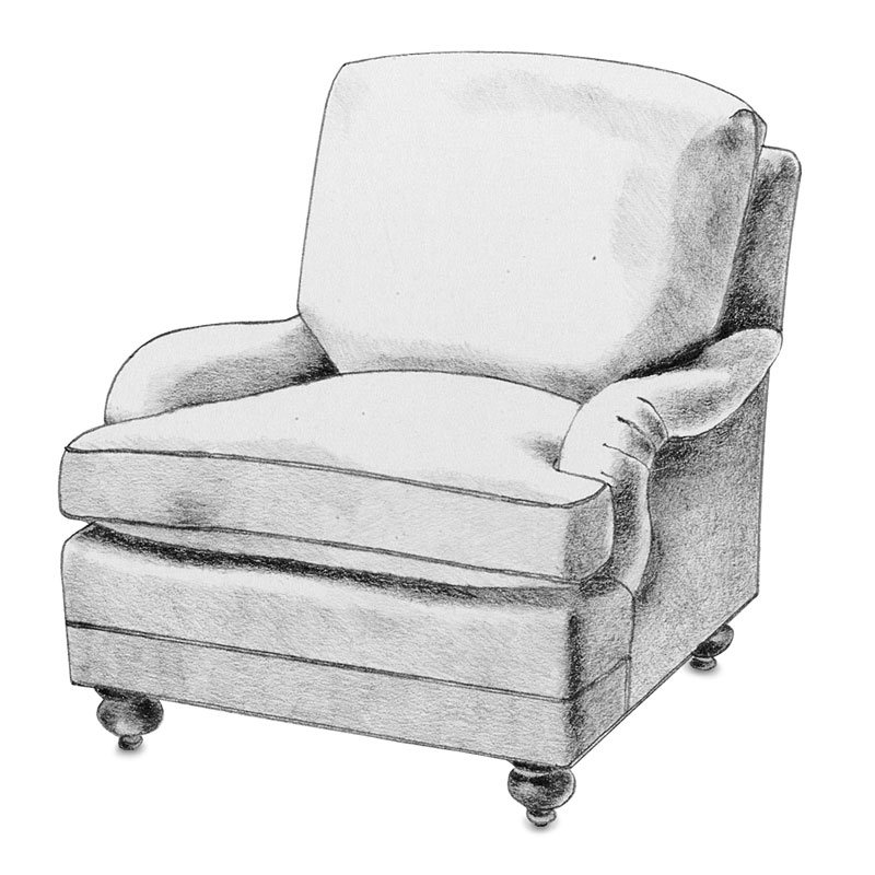 Item# 2324 Raquel  Lounge Armchair