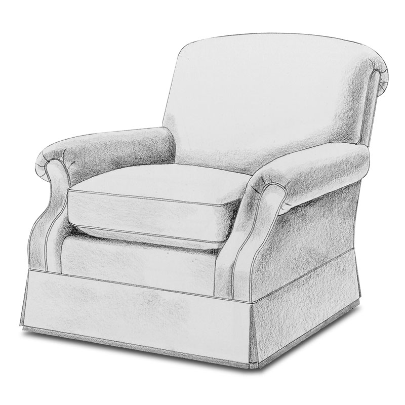 Item# 2325 Fer Lounge Arm chair