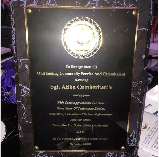 MTA Police Guardians Association Award!
