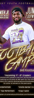 SYFL Football Camp Poster
