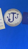 Tripple J Farms business cards and decals