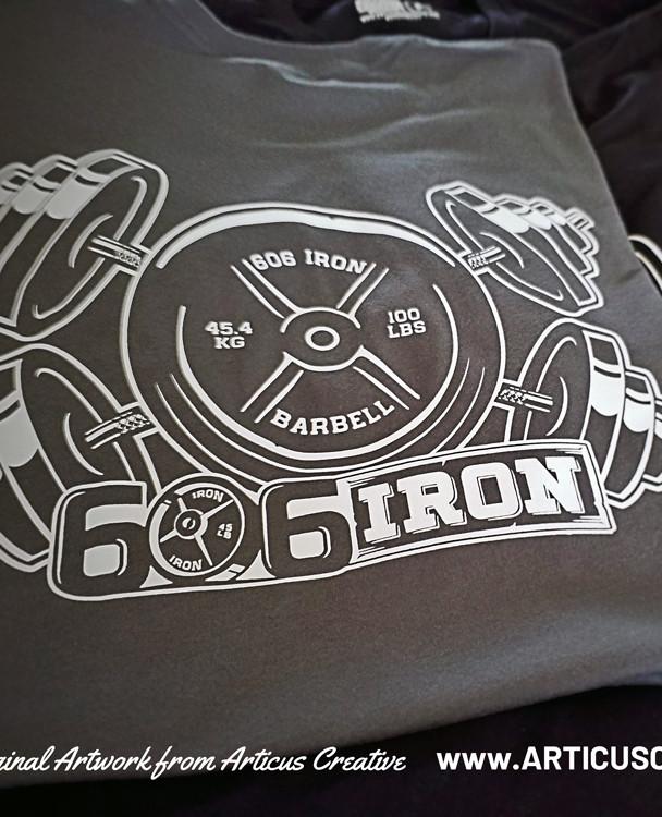 606 IRON Gym shirts