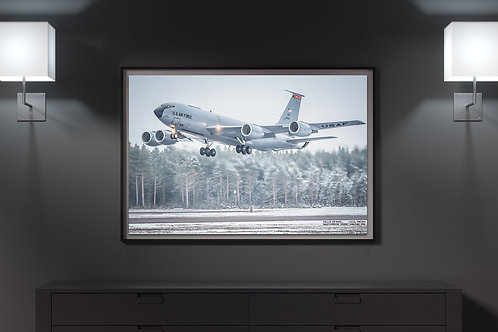 134th ARW, KC135 in Sweden -  CANVAS PHOTO