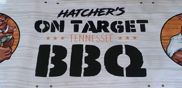 Hatcher's bbq banner