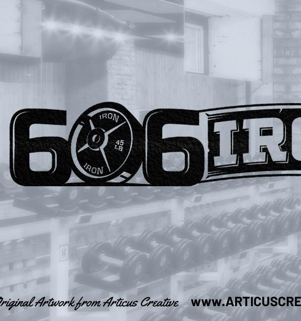606 IRON Gym LOGO