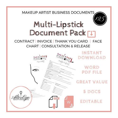 Multi-Lipstick Makeup Artist Document Pack