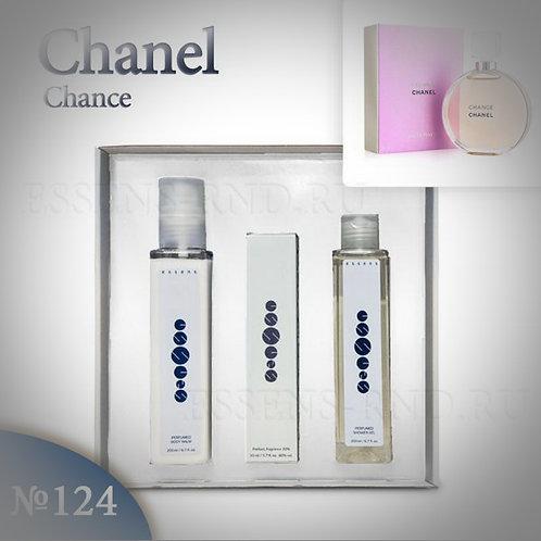 """Подарочный набор Essens духи + гель + бальзам """"Chanel - Chance"""" № 124"""