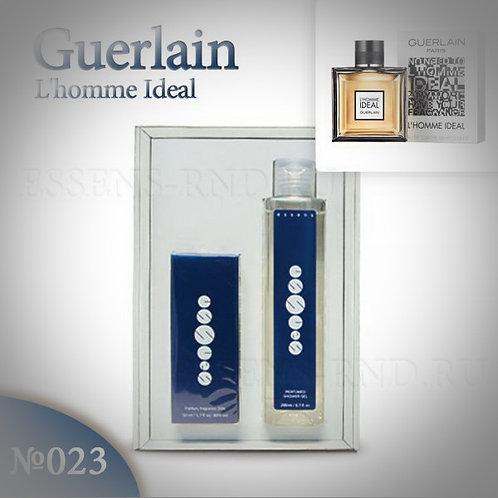 """Подарочный набор Essens духи + гель """"Guerlain - L'HOMME IDÉAL"""" № 023"""