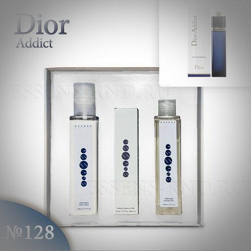 """Подарочный набор Essens духи+гель+бальзам """"Christian Dior-Dior Addict"""" №128"""