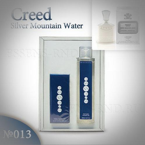 """Подарочный набор Essens духи + гель """"Creed - Silver Mountain Water"""" № 013"""
