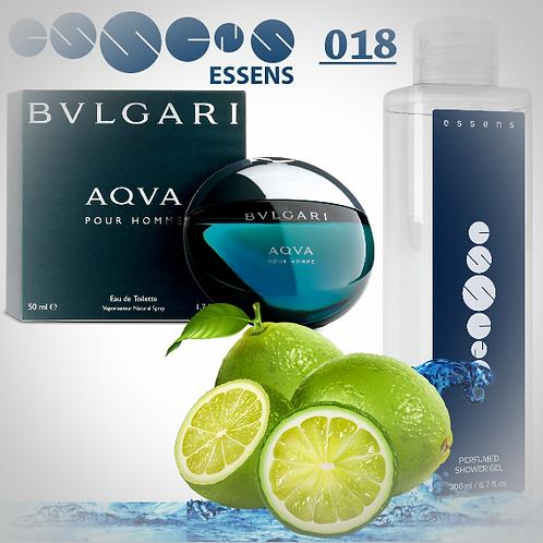 """Гель для душа парфюмированный """"Bvlgari - Aqua"""" - №018"""