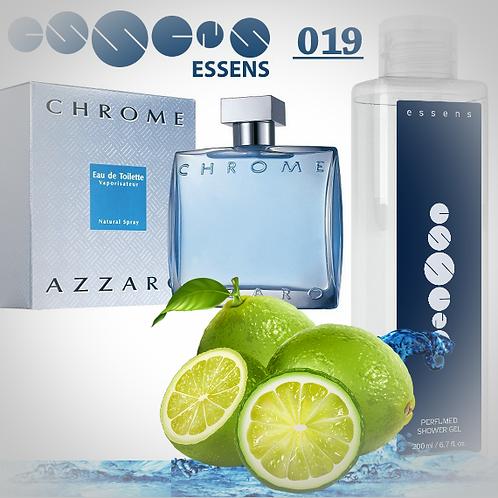 """Гель для душа парфюмированный """"Azzaro - Chrome"""" - №019"""