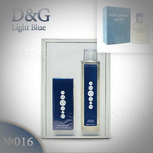 """Подарочный набор Essens духи + гель """"Dolce&Gabbana - Light Blue"""" № 016"""