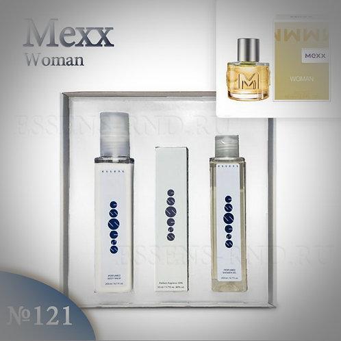 """Подарочный набор Essens духи+гель+бальзам """"Mexx-Mexx Woman"""" №121"""