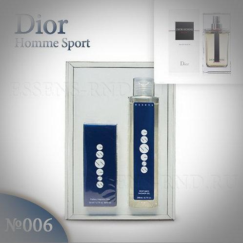 """Подарочный набор Essens духи + гель """"Christian Dior - Dior Homme Sport"""" № 006"""
