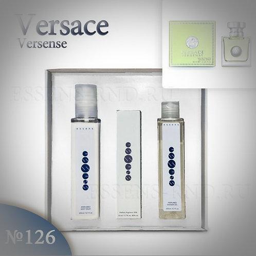 """Подарочный набор Essens духи+гель+бальзам """"Versace - Versense"""" №126"""