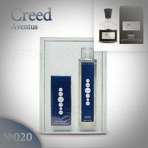 """Подарочный набор Essens духи + гель """"Creed Aventus """" № 020"""