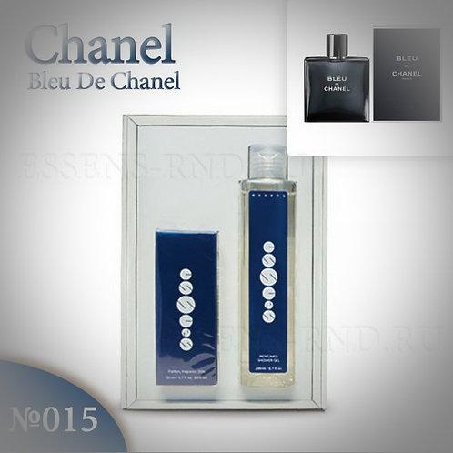 """Подарочный набор Essens духи + гель """"Chanel - Bleu de Chanel """" № 015"""