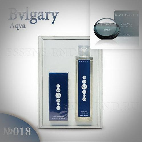 """Подарочный набор Essens духи + гель """"Bvlgari - Aqua"""" № 018"""