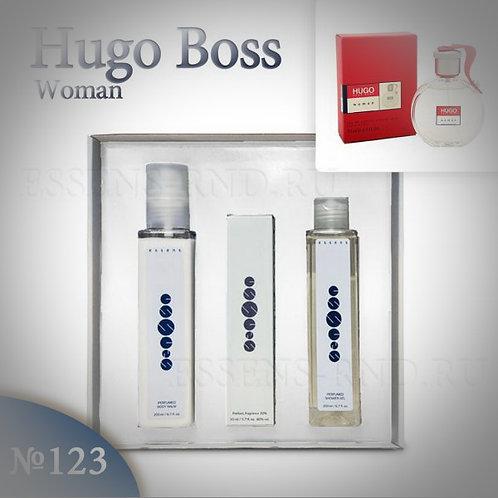 """Подарочный набор Essens духи+гель+бальзам """"Hugo Boss-Hugo Woman"""" №123"""