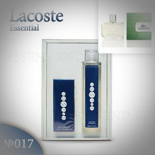 """Подарочный набор Essens духи + гель """"Lacoste - Essential"""" № 017"""