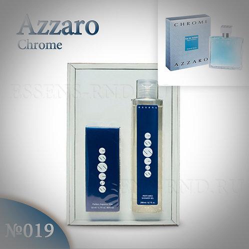 """Подарочный набор Essens духи + гель """"Azzaro - Chrome"""" № 019"""