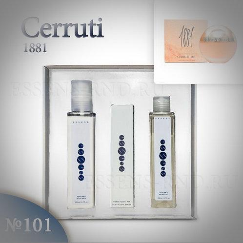 """Подарочный набор Essens духи+гель+бальзам """"1881 Cerruti - Cerruti"""" №101"""