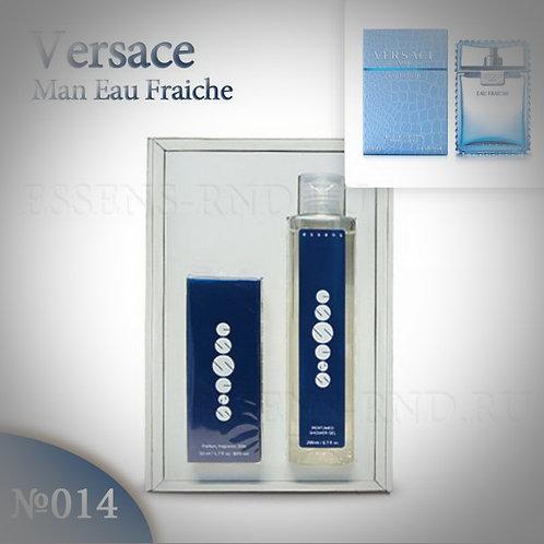 """Подарочный набор Essens духи + гель """"Versace - Man Eau Fraiche"""" № 014"""