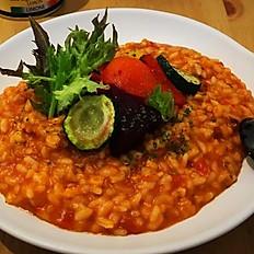 烤時蔬番茄燉飯 (全素)